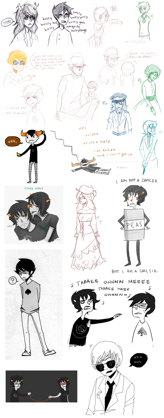 massive homestuck art dump by omgAshley