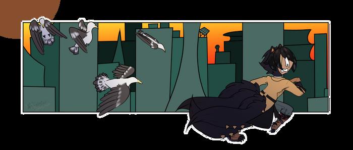 .:Summer Prompt - Bird Attack:. Run away