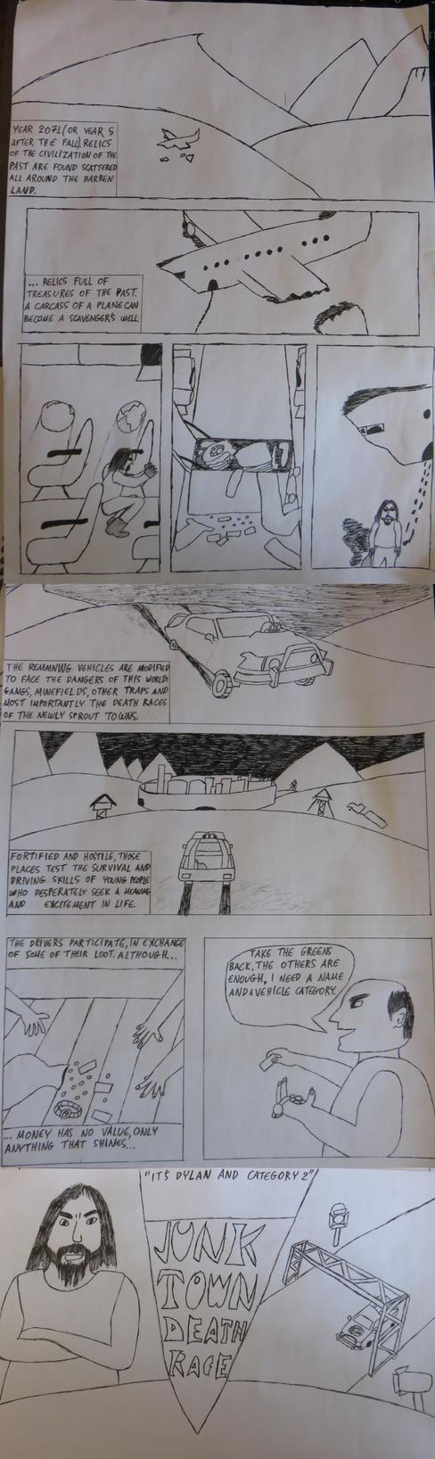 Short Mad Max based comic by wastelander-nick