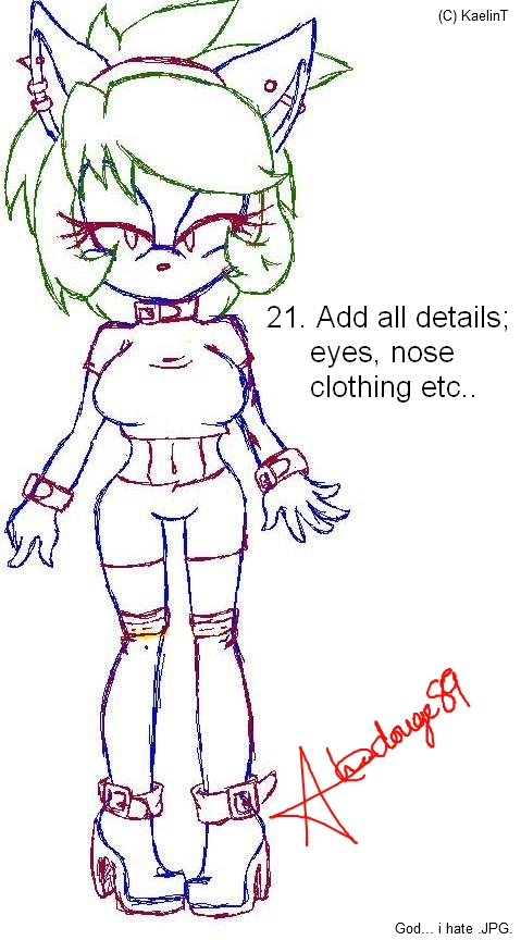 How-To-Draw Roxy the Cat :RQ: Final by xl-Jade-lx