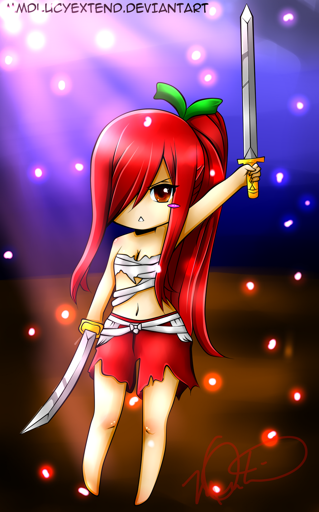 Line Art Xl 2000 : Erza lineartcolored by xl jade lx on deviantart