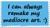 Remaking my art stamp by TotallyDeviantLisa