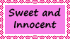 Sweet and Innocent Stamp by TotallyDeviantLisa