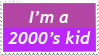 2000s Kid Stamp by TotallyDeviantLisa