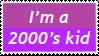 2000s Kid Stamp