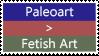 Paleoart over Fetish Art stamp by TotallyDeviantLisa
