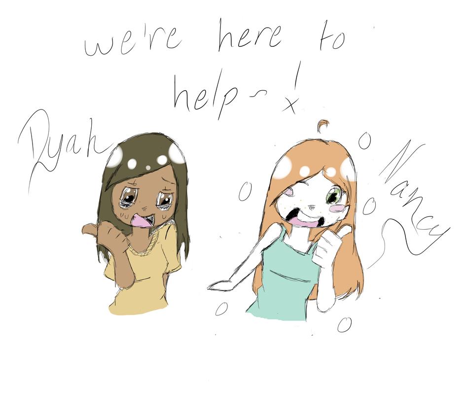 Nancy and I are~! by eriko-neko