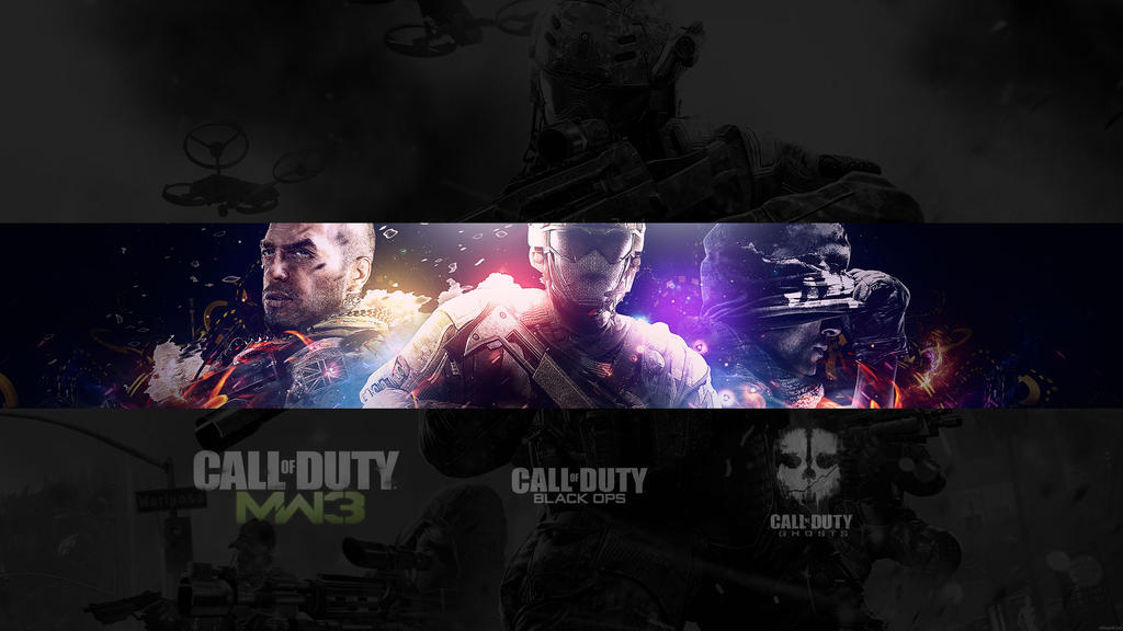 free youtube banner 3 call of duty by xstupidcow