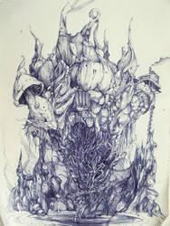 mushroom castle by birre502