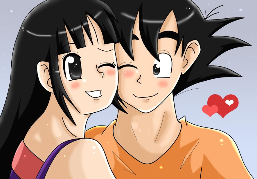 relationship between goku and chichi love