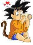 Little Goku again by dbzfannie