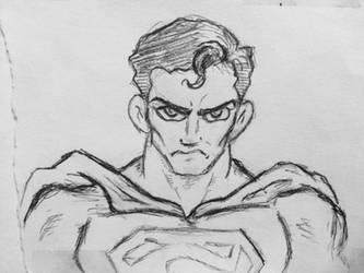 Superman01-work doodle  by PhineasStarkiller