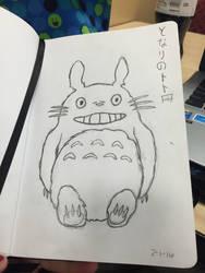 My Neighbor Totoro Sketch by linziexdiane