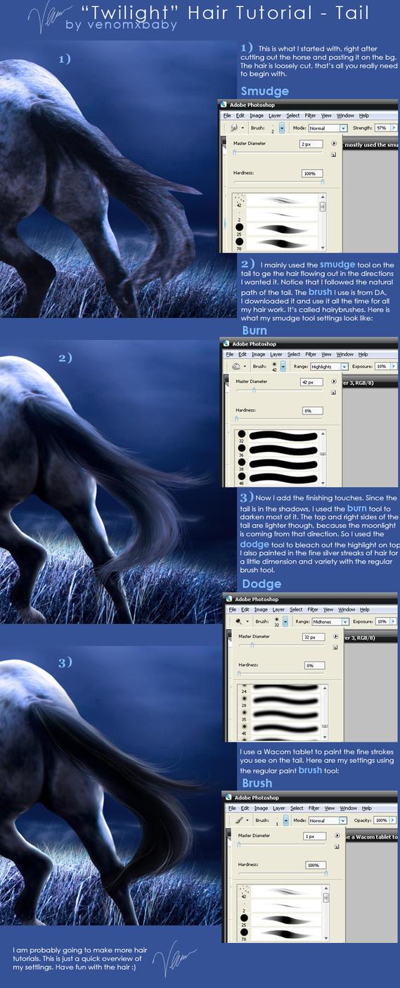 Smudge Horse Hair Tutorial By Venomxbaby On Deviantart