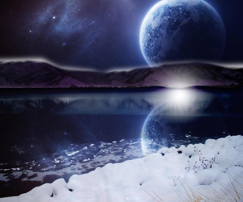 bright winter night premade BG by venomxbaby