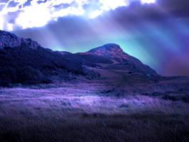 aurora borealis premade BG by venomxbaby