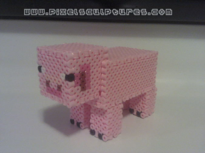 3d pig from minecraft by pixelsculptures on deviantart