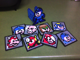 Megaman Coaster Set Expanded by PixelSculptures