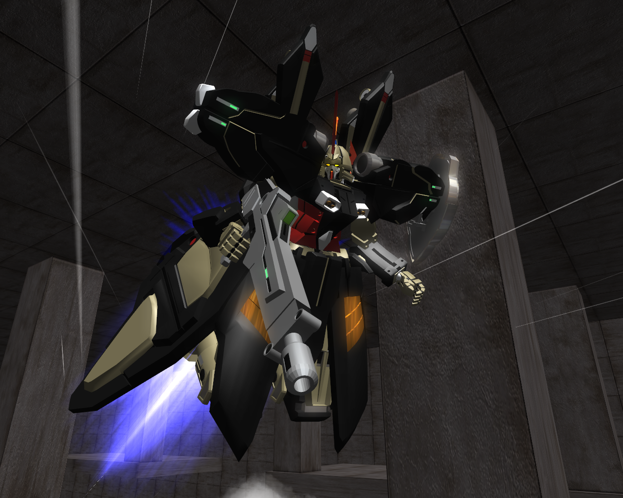OZ-15AGX Hydra Gundam Completed (MA form) by FlowRellik