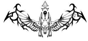 Winged Anubis Tattoo