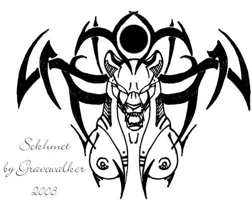 sekhmet tattoo design by cheshiresphynx on deviantart. Black Bedroom Furniture Sets. Home Design Ideas