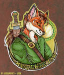 Moonshine Fox Badge