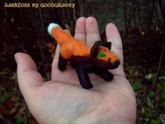 Felted DarkFoxx In Hand by cheshiresphynx