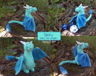 Seru the Baby Ice Dragon by cheshiresphynx