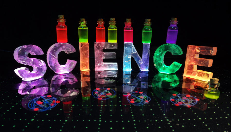 Science in The Dark - Photograph by PolyFacets