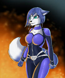 Krystal Star fox by AshleyLinxe