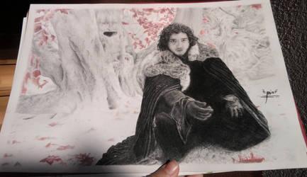 Jon Snow (not scaned) by croatian-artist-girl