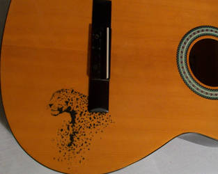oh no!! paint on guitar.. wip by croatian-artist-girl
