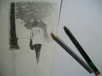walk in the rain WIP1 by croatian-artist-girl