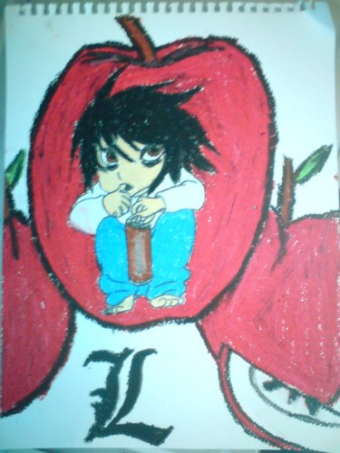 Death Note: L in Oil Pastes by BenLeslie5