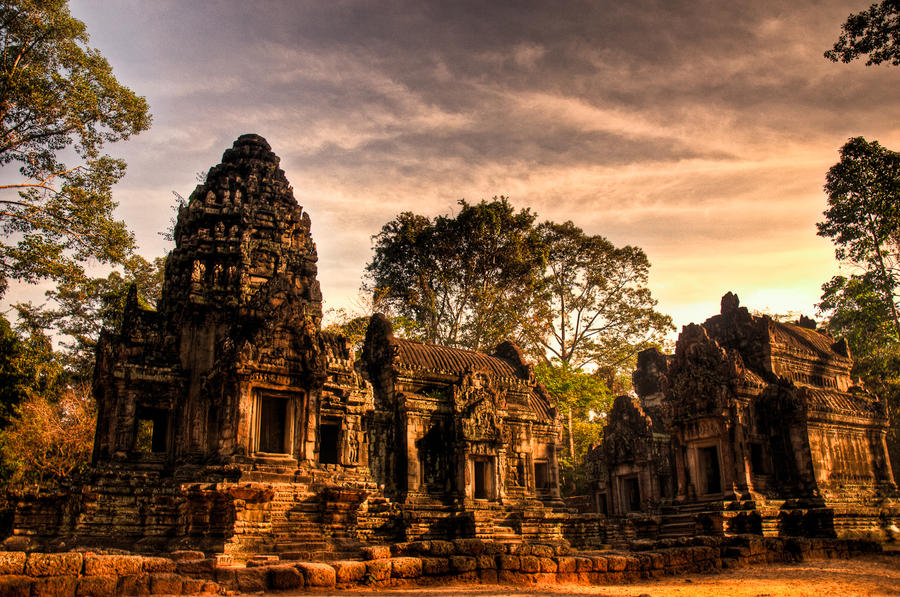Cambodia by colouringwithcrayons