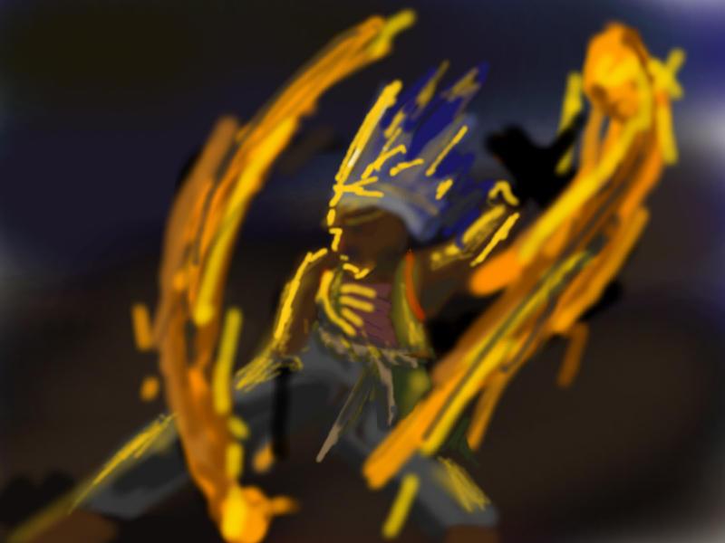 DSG 439: Character: Fire dancer: Samoan fire knife, Fire Poi, or Fire walker