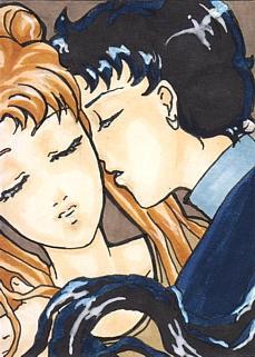 ACEO Nr.2 Usagi and Seiya