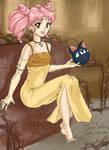 Princess Chibimoon with Luna-P