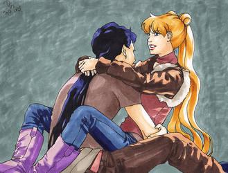 Seiya and Usagi by Seeraholic