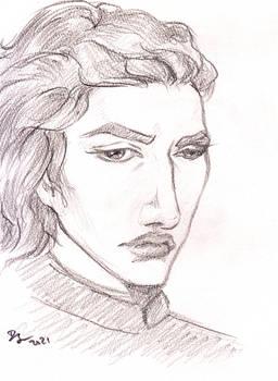 Kylo Ren portrait sketch
