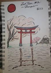 2018 InkTober #2: Tranquil by 3DPhantom