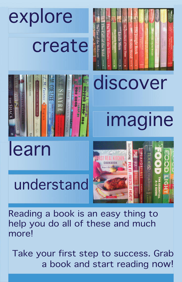 Children's reading advocacy poster by guelpacq