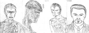 Notebook sketches - Valiant comics