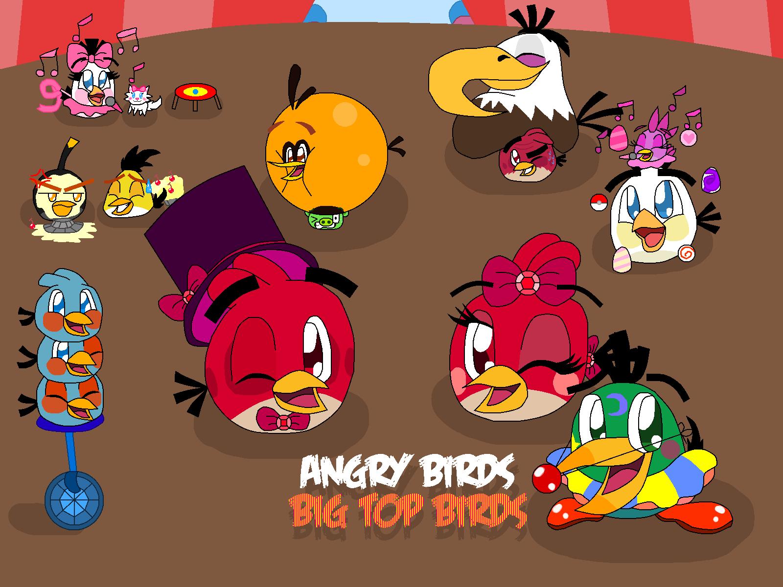Angry Birds Big Top Birds By Pinkstareevee16 On Deviantart