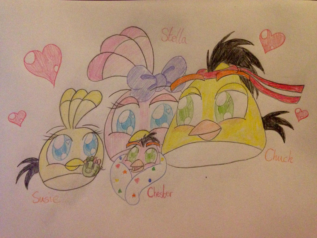 Chuck and Stella's Little Happy Family by RussellMimeLover2009