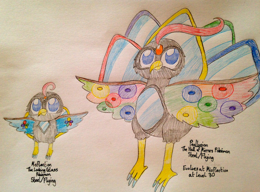Fakemon: Misflection and Peallusion by RussellMimeLover2009