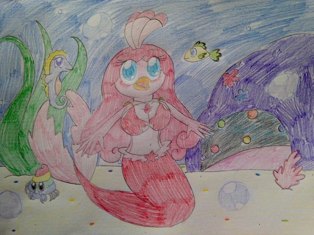 Angry Bird Stella: Stella's Mermaid Tale by RussellMimeLover2009