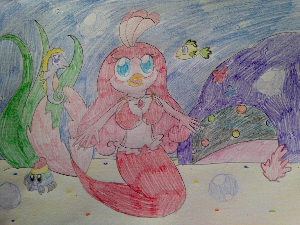 Angry Bird Stella Stellas Mermaid Tale By PinkStarEevee16