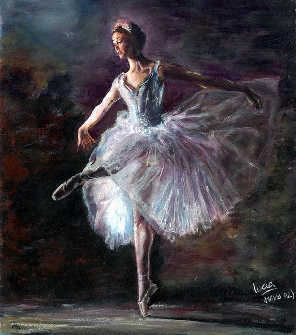 ballerina by paradegritar, Dec 30, 2003 in Traditional Art Paintings Other. ballerina...