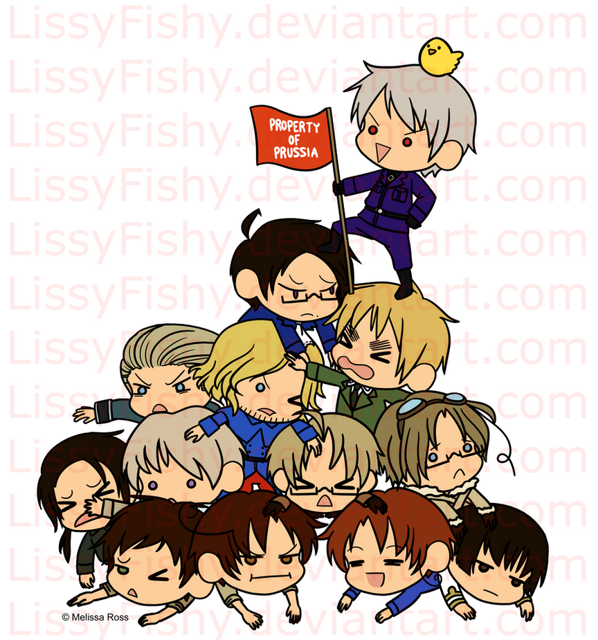 Hetalia T-shirt Design: PROPERTY OF PRUSSIA COLOR by LissyFishy